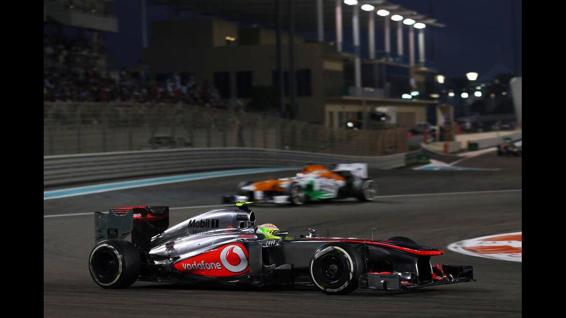 Sergio Perez - Formel 1 - GP Abu Dhabi - 03. November 2013