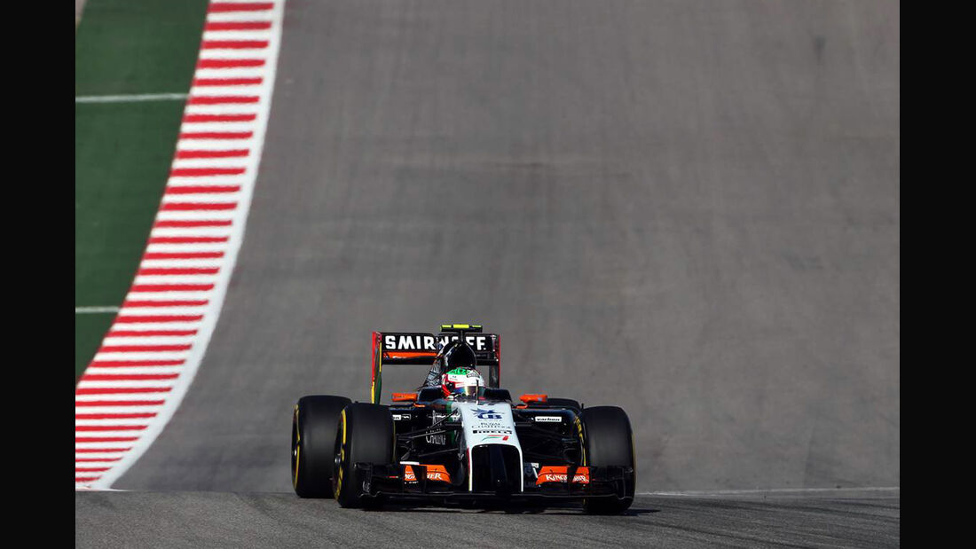 Sergio Perez - Formel 1 - GP USA - 1. November 2014
