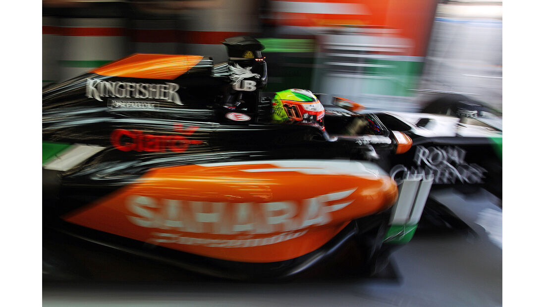 Sergio Perez -  Formel 1 - Test - Bahrain - 28. Februar 2014
