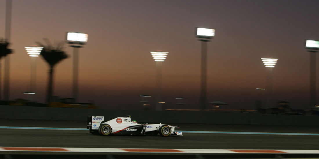 Sergio Perez - GP Abu Dhabi - Freies Training - 11. November 2011
