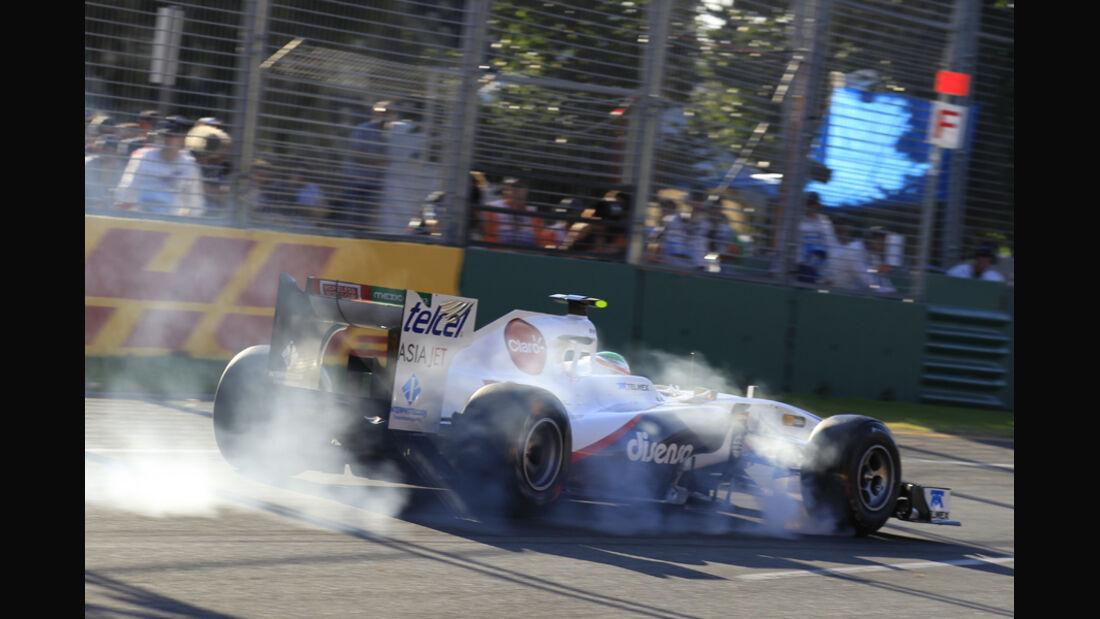 Sergio Perez GP Australien Verbremser 2011