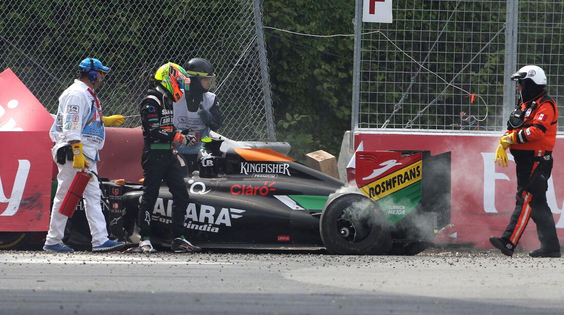 Sergio Perez - GP Kanada - Crashs 2014