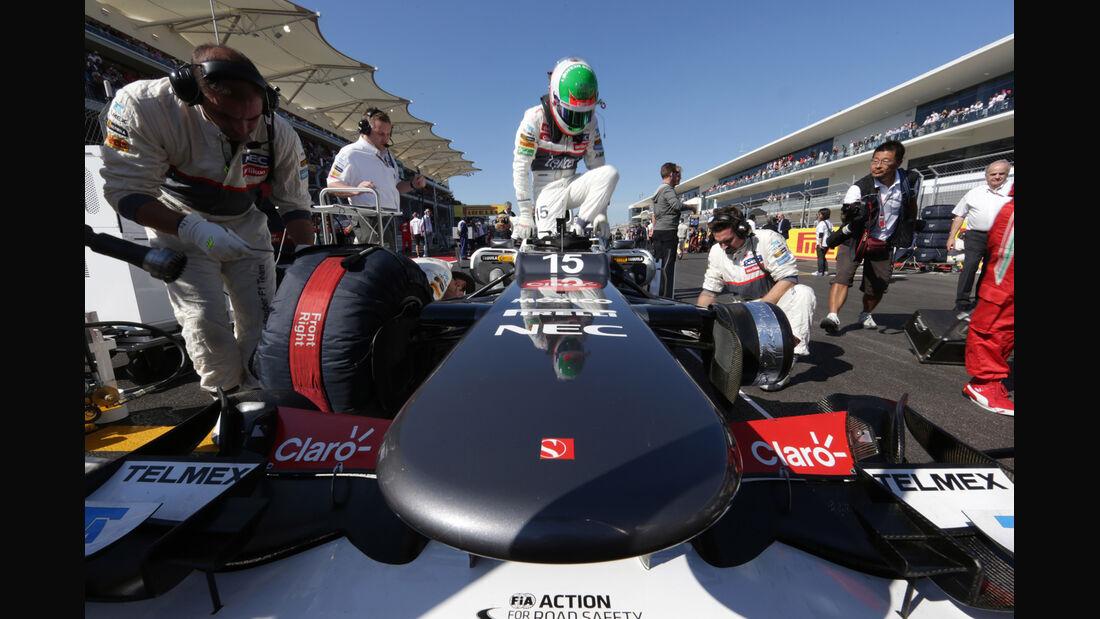Sergio Perez GP USA 2012