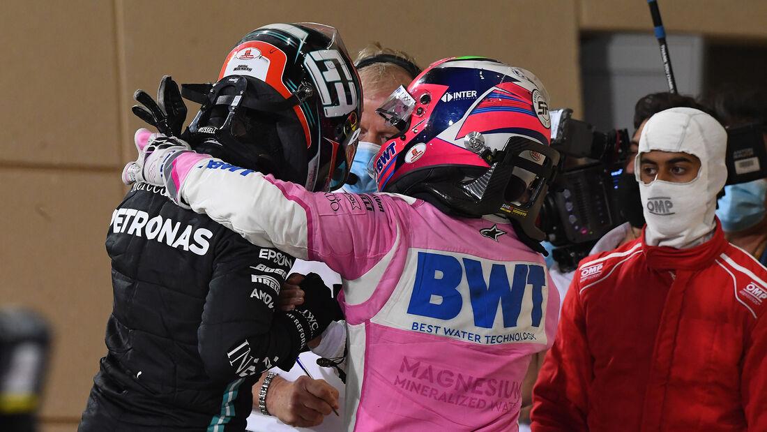Sergio Perez - George Russell - GP Sakhir 2020 - Bahrain