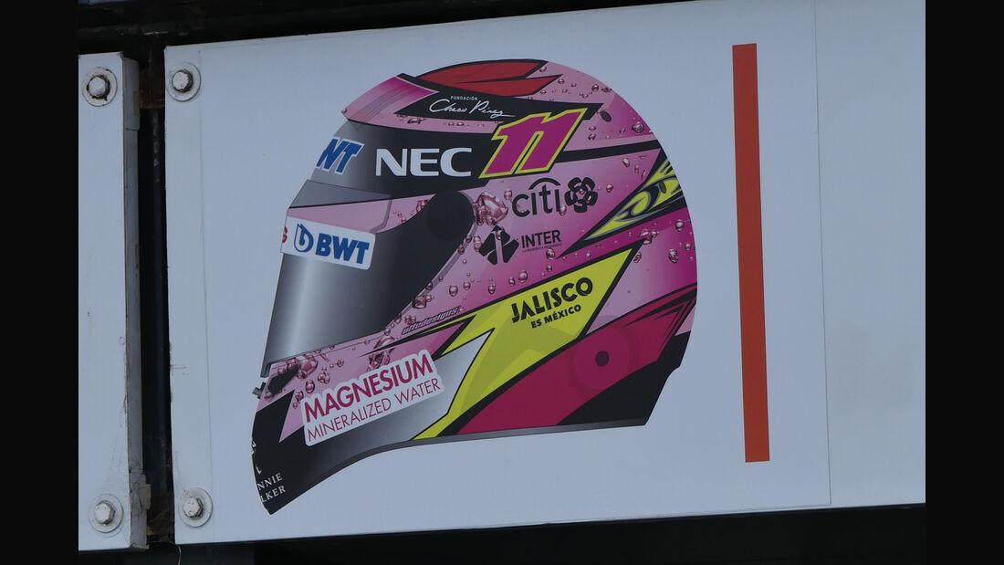 Sergio Perez - Helm - 2017
