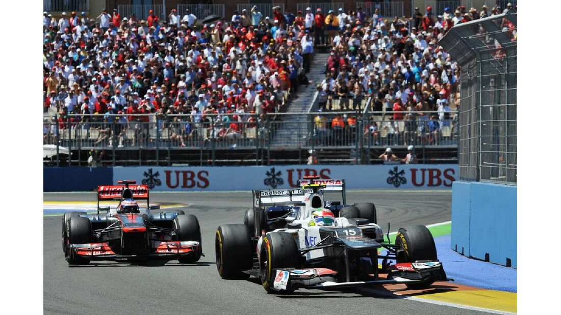 Sergio Perez Jenson Button  - Formel 1 - GP Europa - 24. Juni 2012