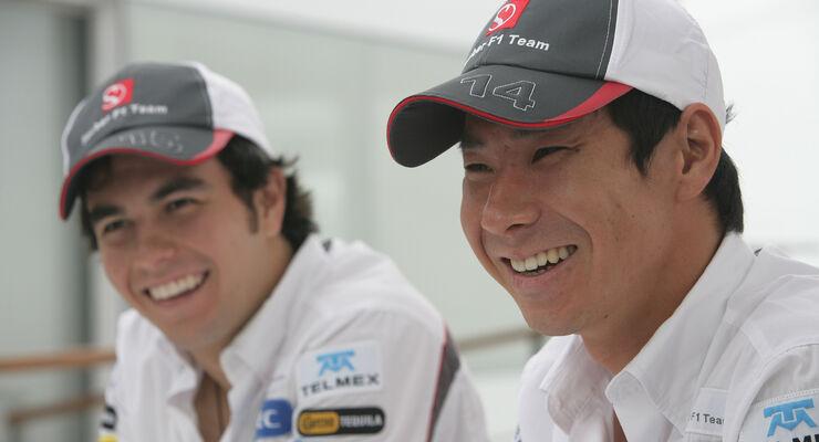 Sergio Perez Kamui Kobayashi Sauber 2012