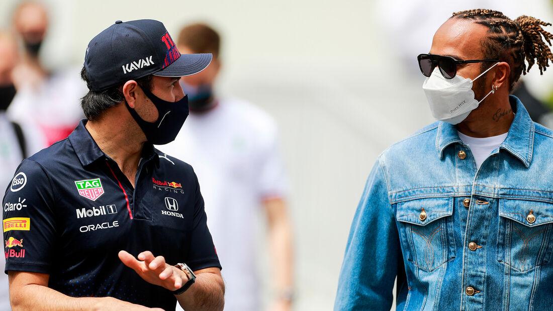 Sergio Perez - Lewis Hamilton - Formel 1 - GP Aserbaidschan - Baku - Freitag - 4.6.2021