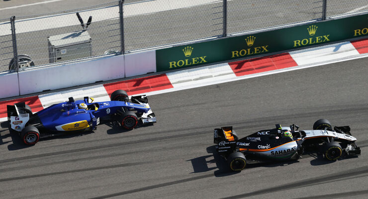 Sergio Perez - Marcus Ericsson - Formel 1 - GP Russland - 1. Mai 2016