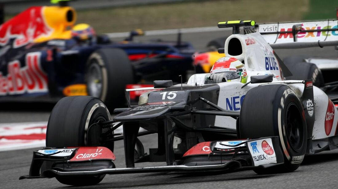Sergio Perez  - Mark Webber - Formel 1 - GP China - 15. April 2012