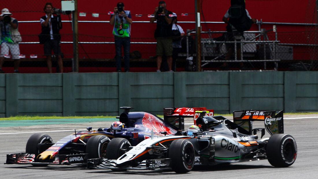 Sergio Perez - Max Verstappen - Force India - Formel 1 - GP Brasilien- 15. November 2015