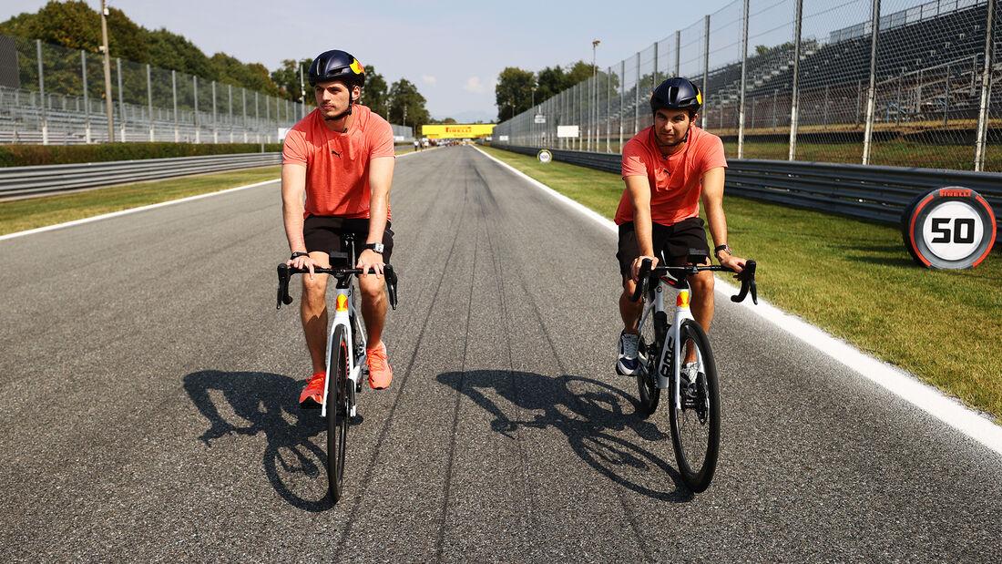 Sergio Perez & Max Verstappen - Red Bull - Formel 1 - GP Italien - Monza - 9. September  2021