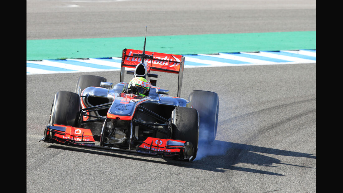 Sergio Perez McLaren F1 Test Jerez 2013 Highlights
