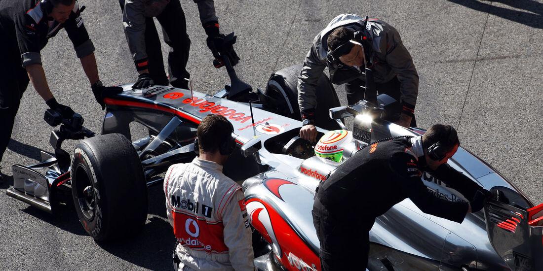 Sergio Perez, McLaren, Formel 1-Test, Barcelona, 20. Februar 2013