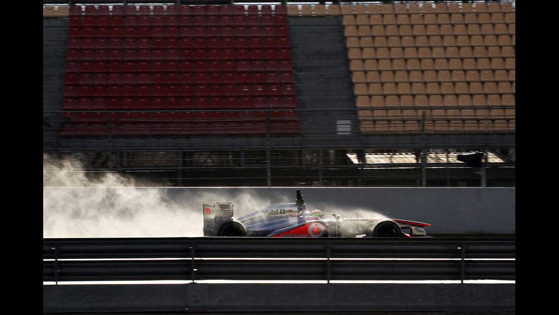Sergio Perez, McLaren, Formel 1-Test, Barcelona, 28. Februar 2013
