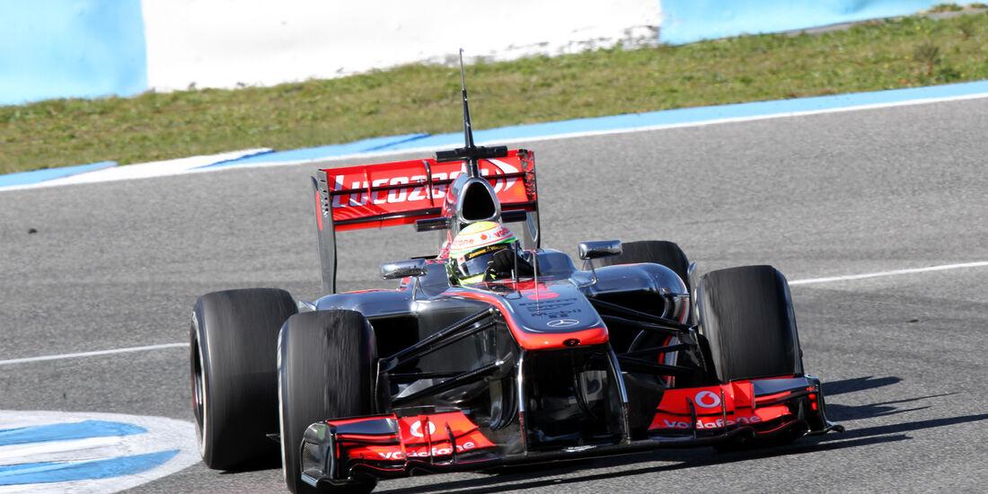 Sergio Perez, McLaren, Formel 1-Test, Jerez, 6.2.2013