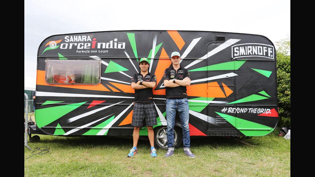 Sergio Perez & Nico Hülkenberg - Force India - Formel 1 - GP England - Silverstone - 3. Juli 2014