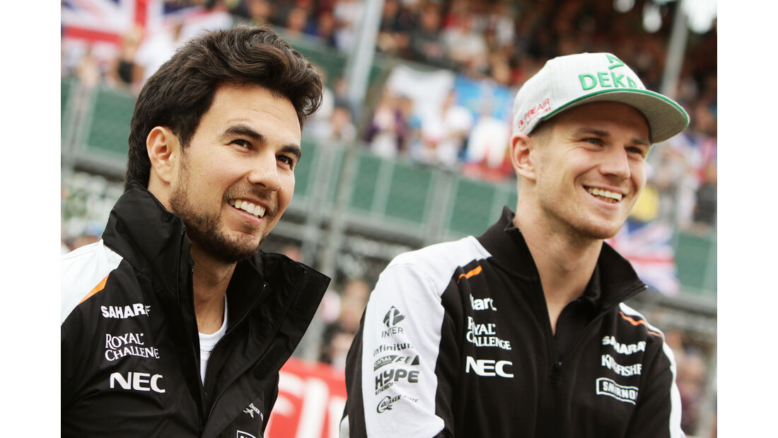 Sergio Perez & Nico Hülkenberg - GP England 2016