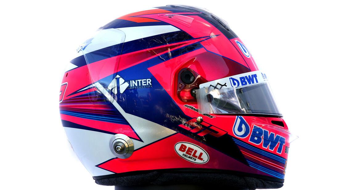 Sergio Perez - Porträt & Helm - Formel 1 - 2020