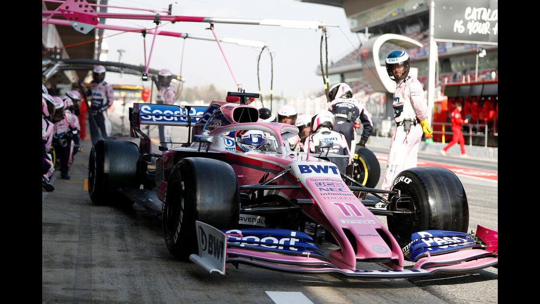Sergio Perez - Racing Point - Barcelona - F1-Test - 01. März 2019