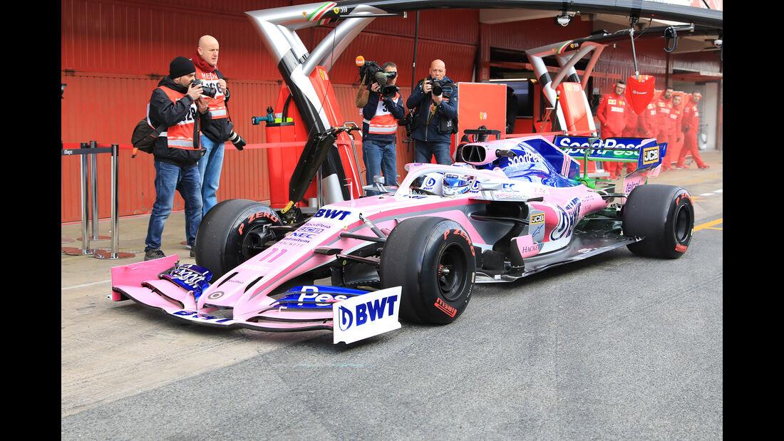 Sergio Perez - Racing Point - Barcelona - F1-Test - 18. Februar 2019