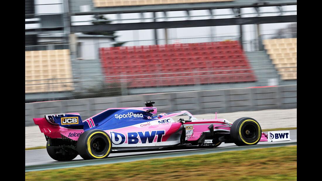 Sergio Perez - Racing Point - Barcelona - F1-Test - 20. Februar 2019