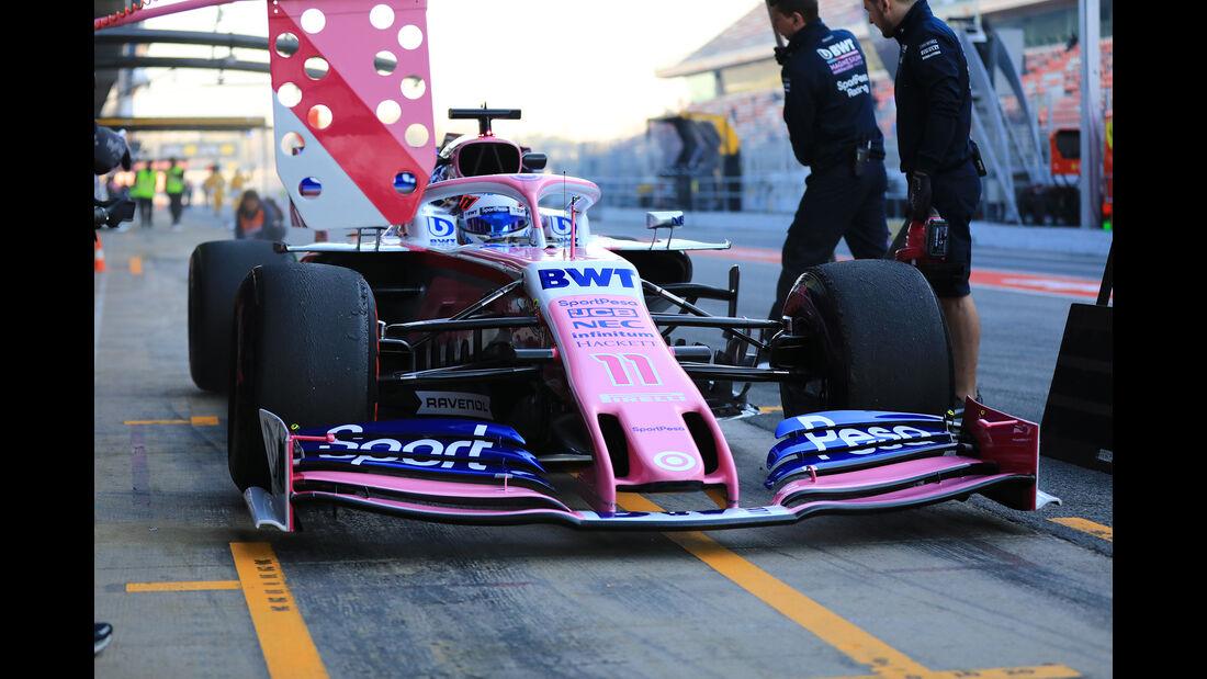 Sergio Perez - Racing Point - Barcelona - F1-Test - 27. Februar 2019