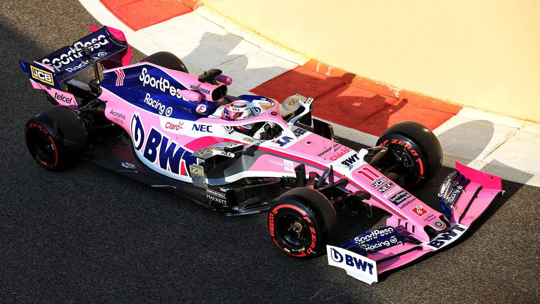 Sergio Perez - Racing Point - F1-Test - Abu Dhabi - 3. Dezember 2019