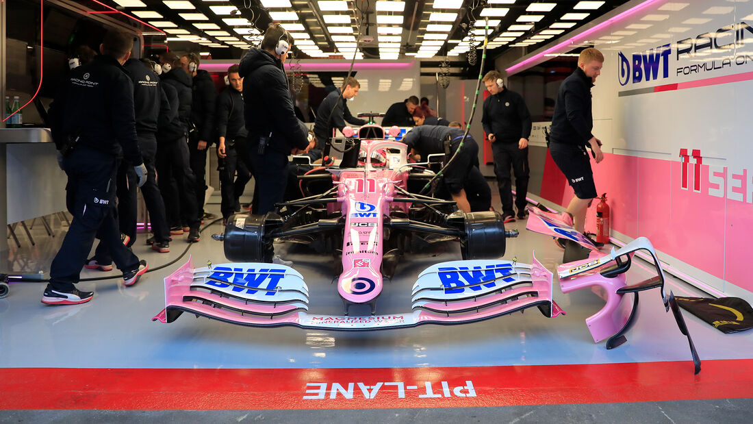 Sergio Perez - Racing Point - F1-Test - Barcelona - 19. Februar 2020