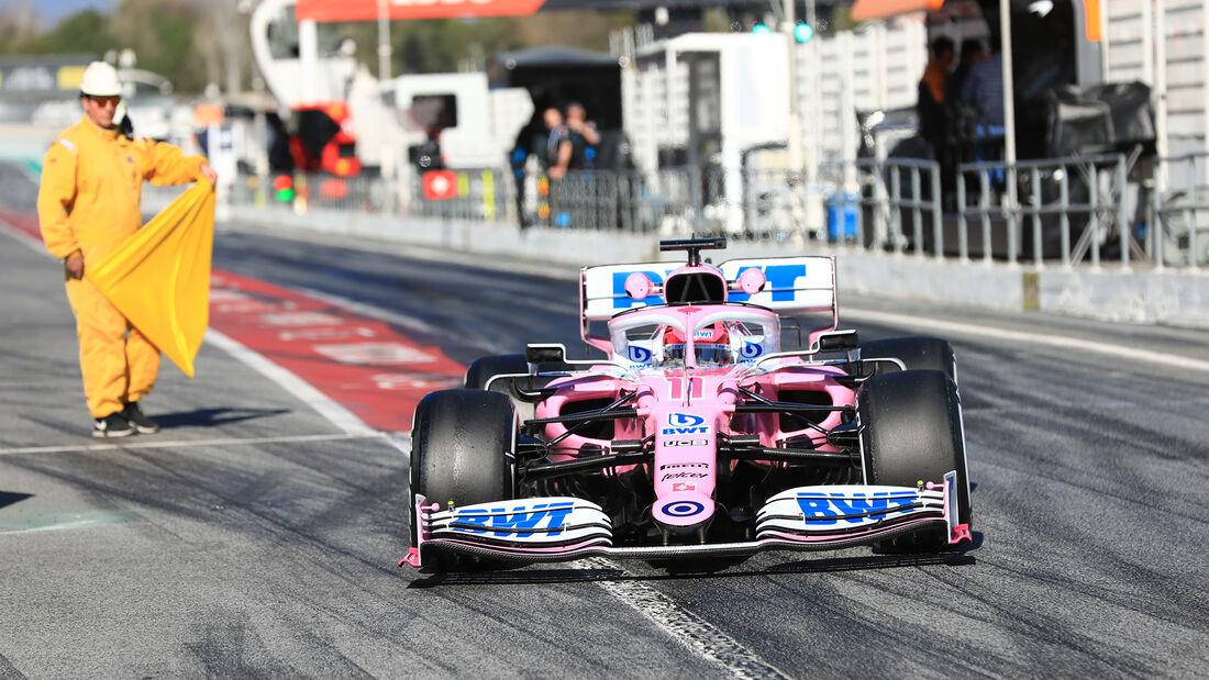 Sergio Perez - Racing Point - F1-Test - Barcelona - 26. Februar 2020