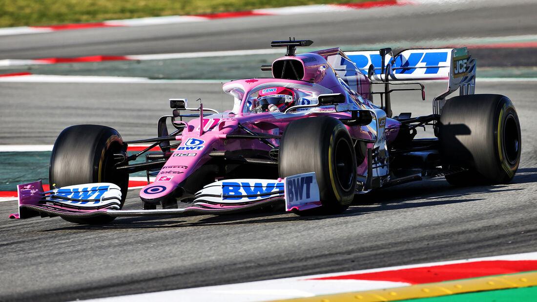 Sergio Perez - Racing Point - F1-Test - Barcelona - 28. Februar 2020