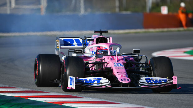 Sergio Perez - Racing Point - F1-Test - Barcelona - 28. Februar 2020