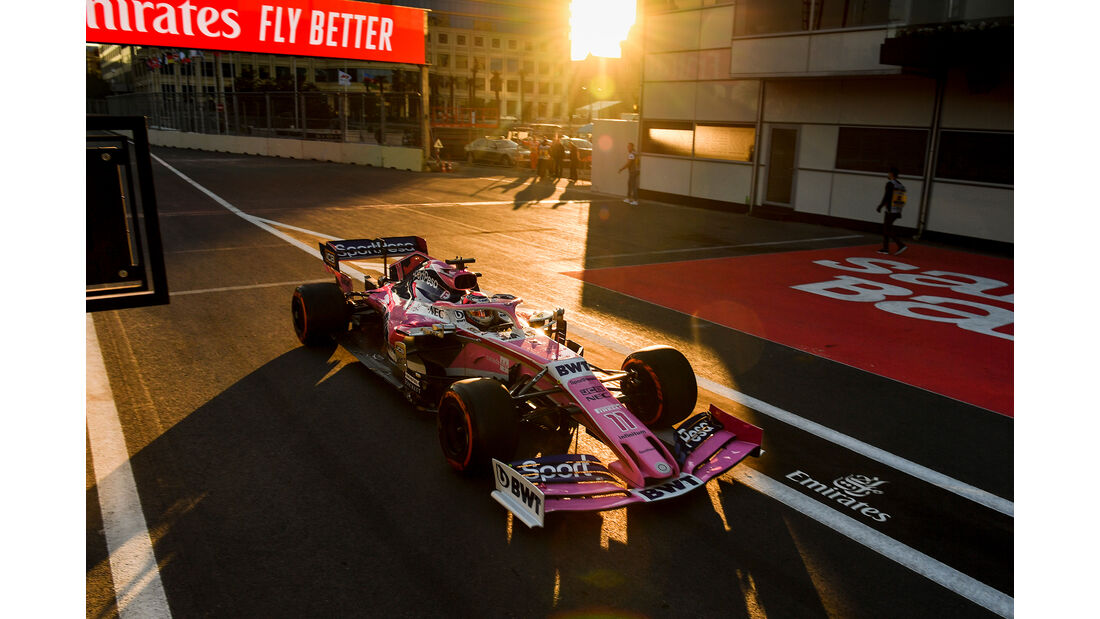 Sergio Perez - Racing Point - Formel 1 - GP Aserbaidschan - 27. April 2019