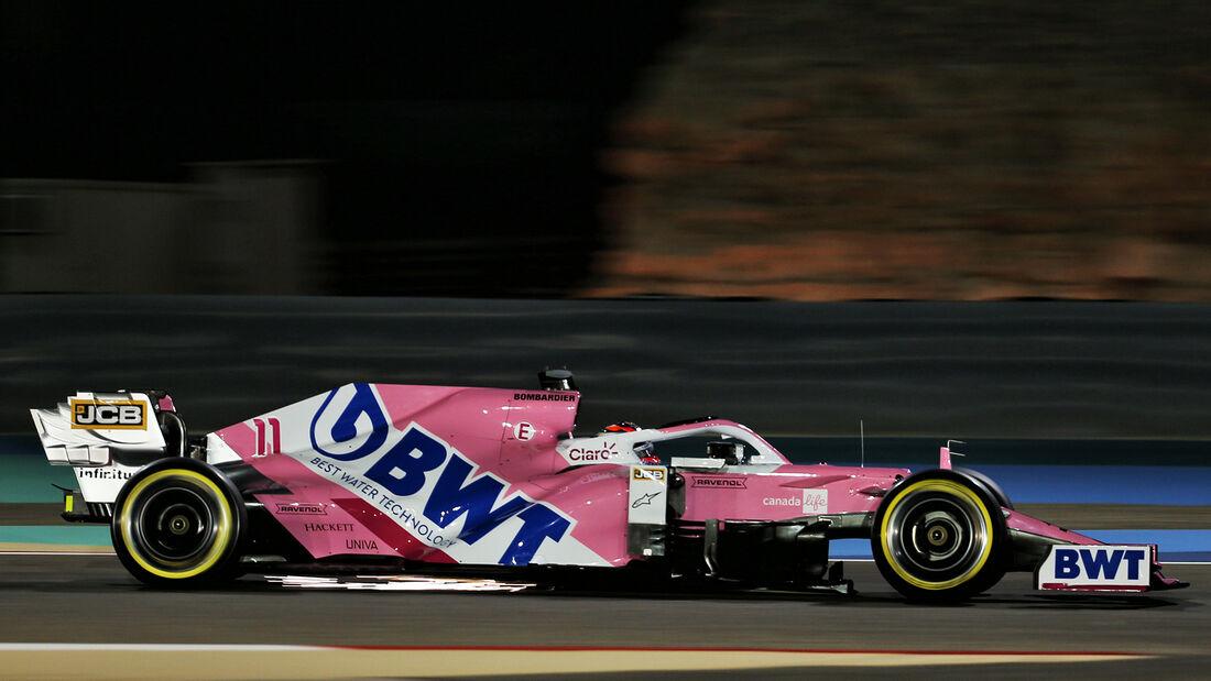 Sergio Perez - Racing Point - Formel 1 - GP Bahrain - Sakhir - Freitag - 27.11.2020