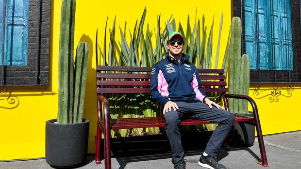 Sergio Perez - Racing Point - Formel 1 - GP Mexiko - 24. Oktober 2019