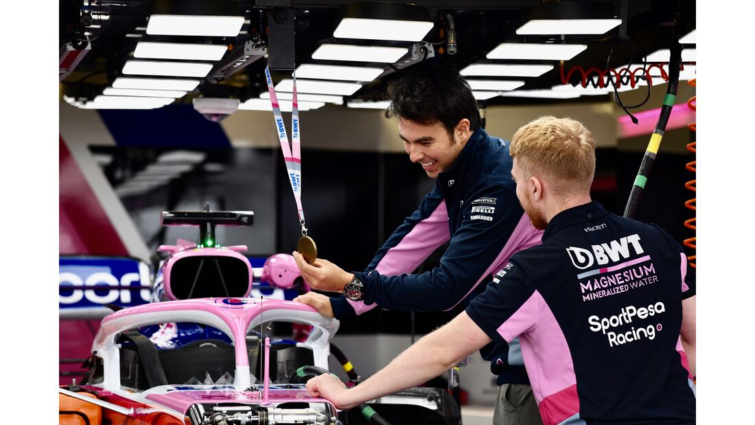 Sergio Perez - Racing Point - Formel 1 - GP Monaco - 23. Mai 2019