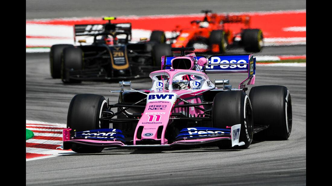 Sergio Perez - Racing Point - Formel 1 - GP Spanien - Barcelona - 10. Mai 2019