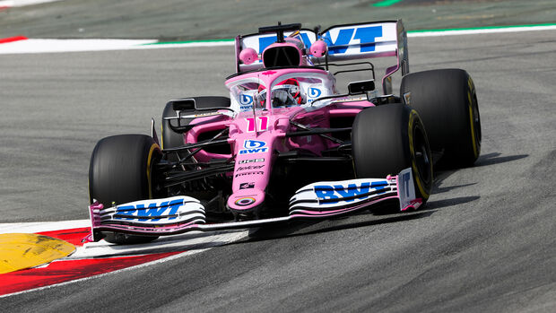 Sergio Perez - Racing Point - Formel 1 - GP Spanien - Barcelona - 14. August 2020