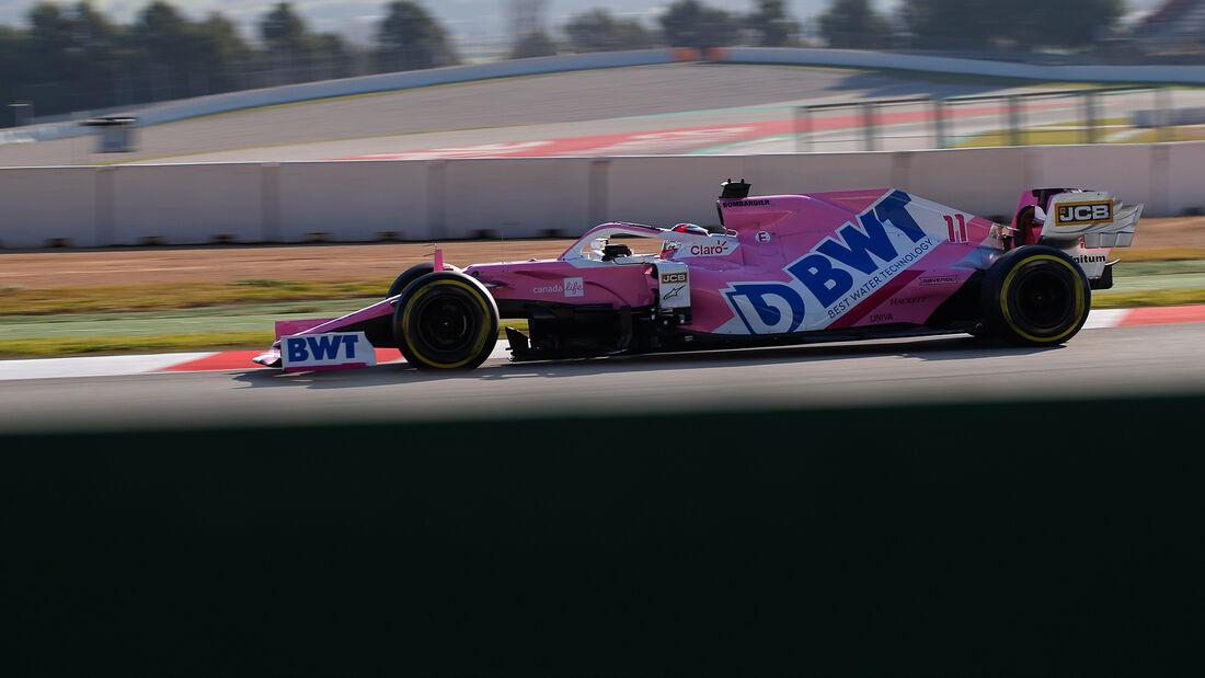 Sergio Perez - Racing Point - Formel 1 - Testfahrten - Barcelona 2020
