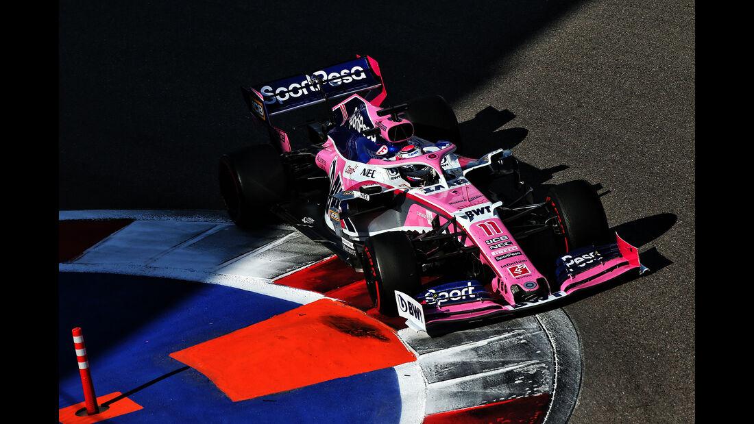 Sergio Perez - Racing Point - GP Russland 2019 - Sochi Autodrom - Rennen