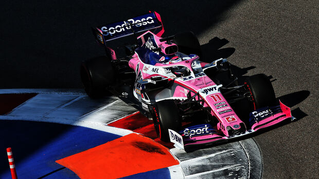 Sergio Perez - Racing Point - GP Russland 2019 - Sochi Autodrom - Rennen