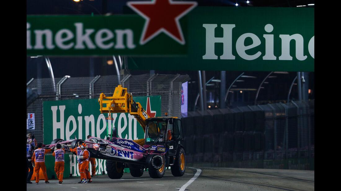 Sergio Perez - Racing Point - GP Singapur 2019 - Rennen