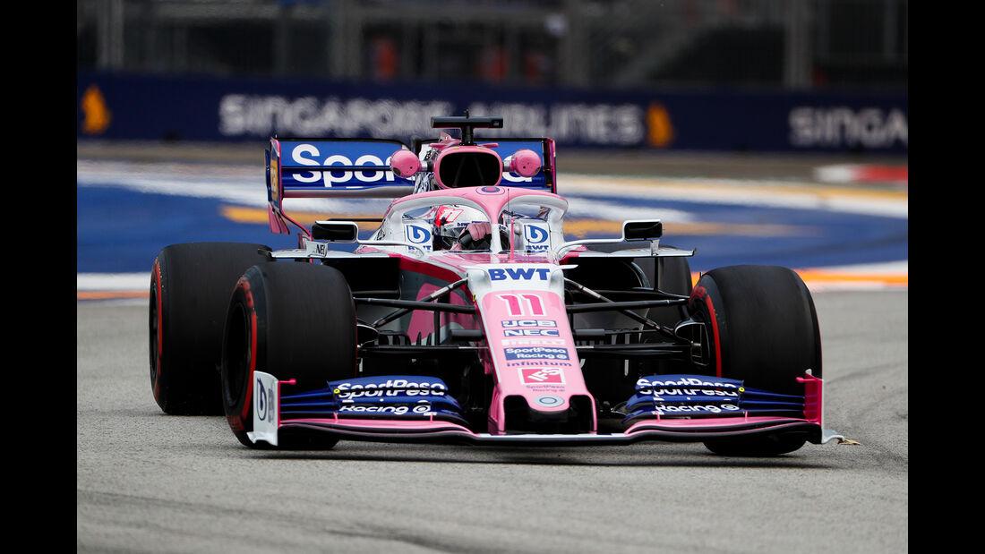 Sergio Perez - Racing Point - GP Singapur - Formel 1 - Freitag - 20.9.2019