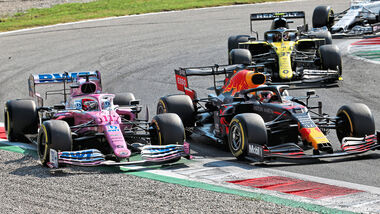 Sergio Perez - Racing Point - Max Verstappen - Red Bull - GP Italien 2020 - Monza