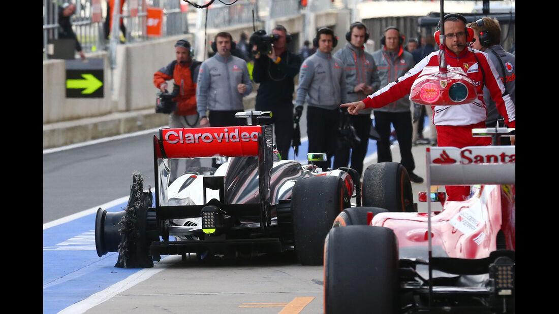 Sergio Perez - Reifenschaden GP England 2013