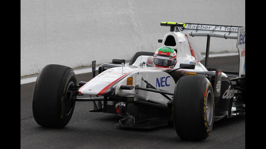 Sergio Perez Rennen GP Belgien 2011