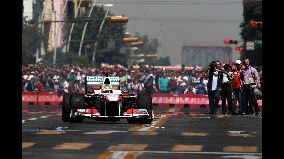 Sergio Perez, Sauber, testfahrt, Mexiko