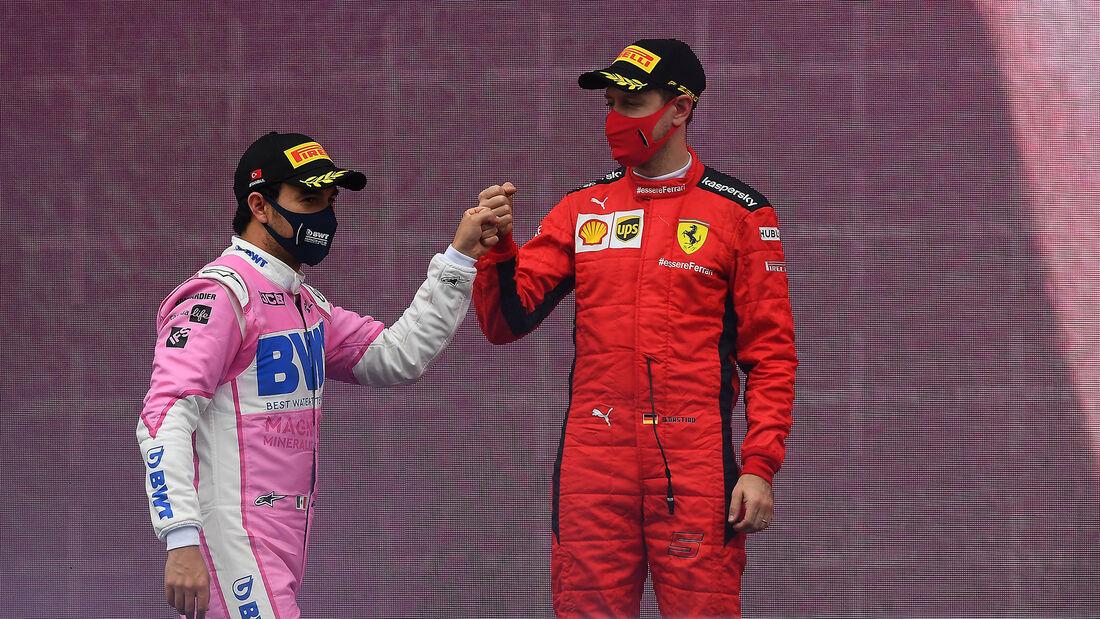 Sergio Perez - Sebastian Vettel - GP Türkei 2020 - Istanbul - Rennen