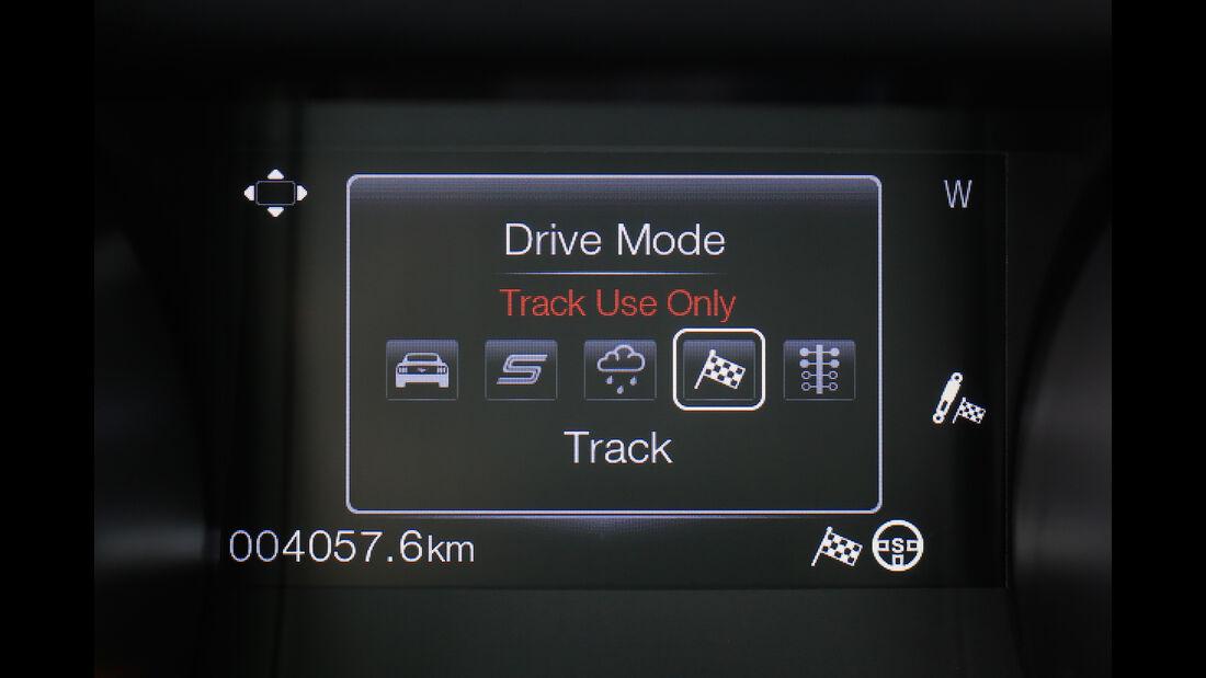 Shelby GT350 Mustang, Display, Fahreinstellung