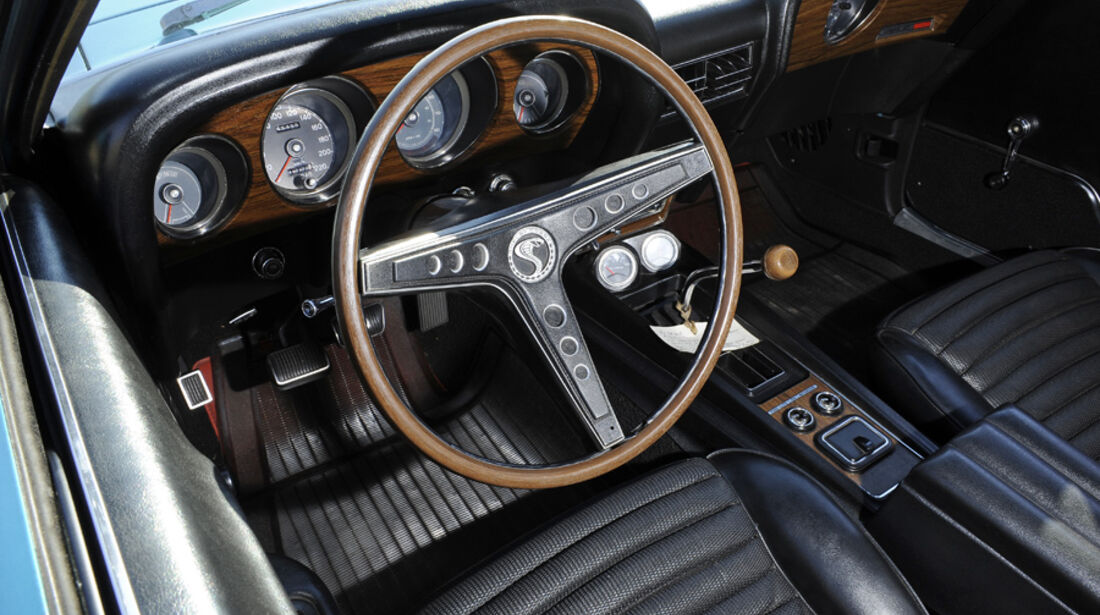 Shelby Mustang GT 500, Baujahr 1969, Cockpit